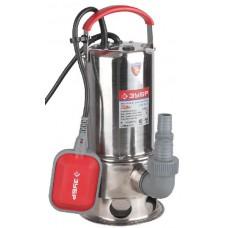 Насос ЗУБР погружной для грязной воды, корпус из нержавеющей стали, пропускная способность 13000л/ч, 750Вт