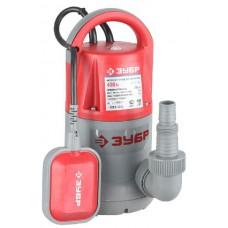 Насос ЗУБР погружной для чистой воды, пропускная способность 7000л/ч, 400Вт