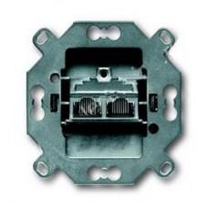 Механизм 2-постовой компьютерной розетки RJ45 кат. 5e