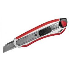 """Нож ЗУБР """"ЭКСПЕРТ"""" с сегментированным лезвием 18 мм, металлический корпус, автоматический фиксатор лезвия"""