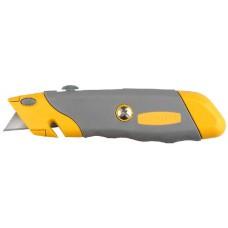 """Нож STAYER """"PROFI"""" металлический корпус, с выдвижным трапециевидным лезвием, 5 запасных лезвий"""