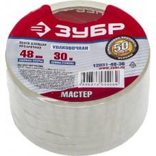 """Лента ЗУБР """"МАСТЕР"""" клеящая, прозрачная, усиленная прочность, толщина 50 мк, 48мм х 30м"""