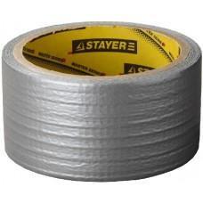 """Лента STAYER """"MASTER"""" """"UNIVERSAL"""" клейкая,армированная, влагостойкая. 50 мм х 10 м, металлик"""