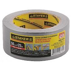 """Лента STAYER """"MASTER"""" """"UNIVERSAL"""" клейкая,армированная, влагостойкая. 50 мм х 25 м, металлик"""