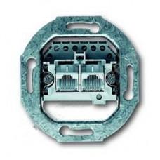 Механизм 2-постовой телефонной розетки 2х8 RJ 11/12