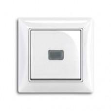 Выключатель 1-клавишный, переключатель с подсветкой, альпийский белый