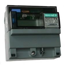 Электросчетсик Меркурий 200.04 1Ф 230V 5(60) Мн.т ЖКИ с PLC модемом дин рейка