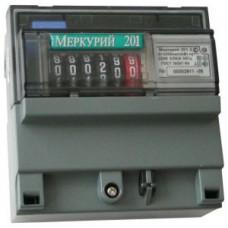 Электросчетсик Меркурий 201.6 1Ф 230V10(80) 1т ОУ дин.рейка