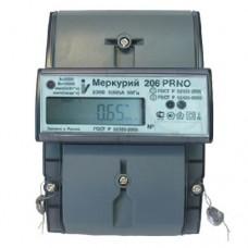 Электросчетсик Меркурий 206 PRNO 5(60)А 230в  оптопорт, профиль мощности и журнал событий, электронная пломба, встроенное реле.