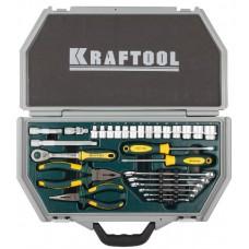 """Набор KRAFTOOL """"INDUSTRY"""" Слесарно-монтажный инструмент, 28 предметов"""