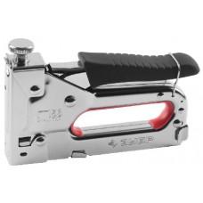 """Пистолет ЗУБР """"МАСТЕР"""" скобозабивной металлический пружинный, регулируемый, тип 53, 4-14мм"""