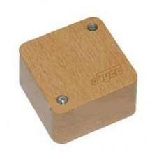 Коробка расп. для о/п, 79х79х32мм (4 клем.,бук на светлой основе)