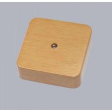 Коробка универс. для кабель-каналов, 80х80х25мм(бук на светлой основе)