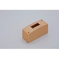 Коробка о/п на 2 модуля 130х50х65мм(коричневая)