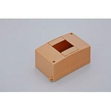 Коробка о/п на 4 модуля 130х90х65мм(коричневая)