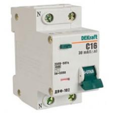 Дифференциальный автомат 1Р+N 40А 30мА тип AC характеристика С ДИФ-102 4,5кА DEKraft