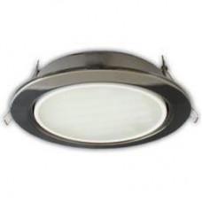 Ecola GX70 H5 светильник встраиваемый без рефлектора Черный хром 53x151
