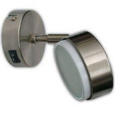 Ecola GX53 FT3173 светильник поворотный на коротком кроншт. сатин-хром 152х80
