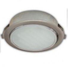 Ecola GX53 DL Светильник Встраиваемый (для твёрдых поверхностей и мебели) Сатин-Хром  28х93