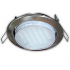 Ecola GX53 H4 Downlight without reflector_satin chrome (светильник) 38х106
