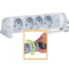 Удлинитель 3X2К+З б/кабеля комфорт