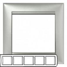 Рамка 5 постов горизонтально алюминий