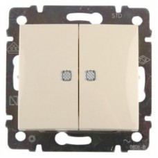 Выключатель 2-х клавишный с подсветкой (774328)