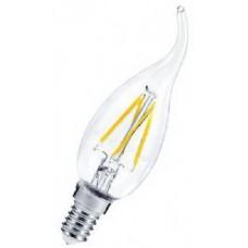 Лампа светодиодная LED-СВЕЧА НА ВЕТРУ-PREMIUM 5Вт 160-260В Е14 3000К 450Лм прозрачная ASD