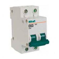 Автоматический выключатель 2Р 10А характеристика C ВА-101 4,5кА DEKraft