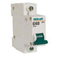 Автоматический выключатель 1Р 80А характеристика С ВА-201 10кА DEKraft