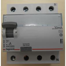 Выключатели дифференциального тока (УЗО) TX3 4П 25A 30MA -AC
