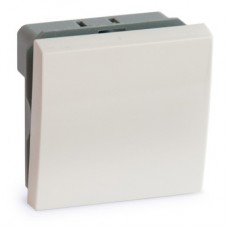 Выключатель 1 клавишный (2 модуля) 45х45 Артикул: ADL13-1000