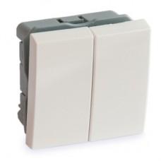 Выключатель 2-х клавишный 45х45 Артикул: ADL13-1001