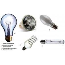 Типы электрических ламп